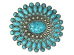Turquois Stone Belt Buckle