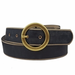 Distress, Vintage Vegan Belt with a round buckle