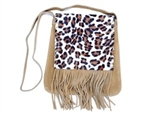Animal print suede bag