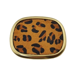 Oval  Buckle with Hair Calf