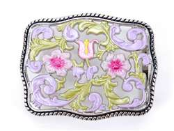 Hand-paint colorful flower buckle