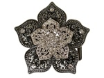 Rhinestone Flower Buckle