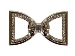 Bow Tie Rhinestone Belt Buckle