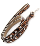 20mm Animal Printed Rhinestone Dog Leash