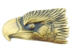 American Eagle head buckle in old brass finish
