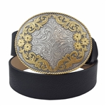 Quality Western Statement Oval Buckle belt