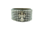 "1 1/4"" width lady wristband all crystallized"