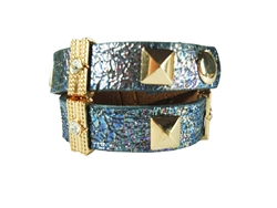 Double wrap around wrist cuff