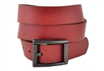 "1 1/8"" Snap On Oil Tanned Top Grain Genuine Vintage Retro Leather Belt with Casual Buckle"