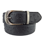 "Extra Long 1.25"" Men's Reverse Belt in Ostrich / Plain Leather"