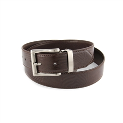 "1.25"" Nickel Free Men's Lizard Print and Plaint  Reversible Belt."