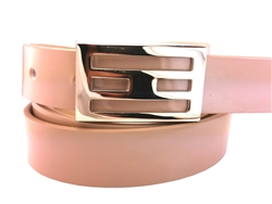 "1"" Skinny  Leatherette belt  Patent Strap With Clamp Silver belt buckle."
