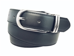 Women's Clamp round buckle On One-Size-Fits-All Plain Feather Edged Dress Belt