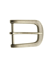 rectangular shape buckle with slanted line design