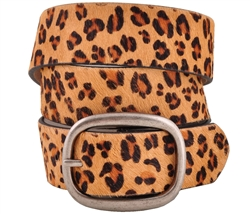 Fancy Hair Calf Leopard Belt