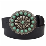 Western Turquoise Buckle Belt