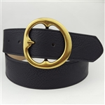 In style, Round Brass Statement Buckle Belt