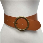 Wide Belt with Round Buckle