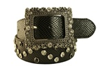 "Ladies 1 1/2"" Rhinestone Belt with Multi color stone"