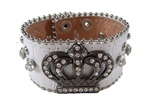 Western Rhinestone Crown Ornament Wristband
