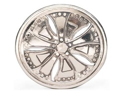 Chrome Dub Spinners Belt Buckle