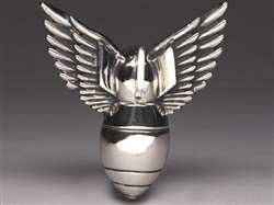 SILVER STAR BRAND WINGED BOMB BELT BUCKLE