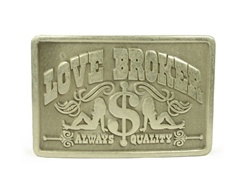 Rectangular Love Broker Belt Buckle