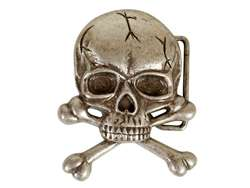 Skull With Cross Bone Buckle