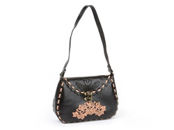 Fashion Embossing Flower Leather Handbag