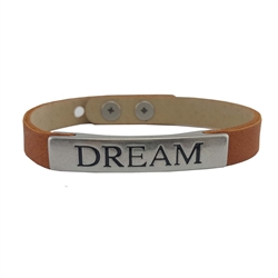 AXESORIA SINGle Virtue plaque leather bracelet