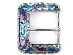 Hand-paint color rhinestone buckle